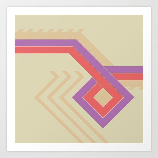 ethnic diamond Art Print