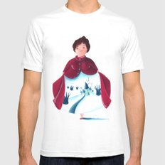 winter lady Mens Fitted Tee White MEDIUM