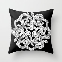 Jelling Style Ornament III Throw Pillow
