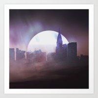 skyline Art Prints featuring Skyline by Frank Kupshik