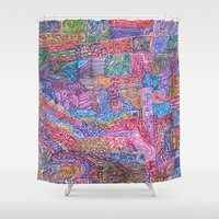 community Shower Curtains featuring A Close Knit Community by Dana L Duncan