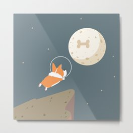 Fly to the moon Metal Print