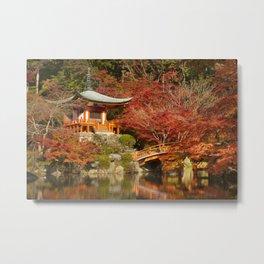 Autumn colours at Daigo-ji Temple in Kyoto, Japan Metal Print
