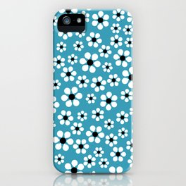 Dizzy Daisies - teal - more colors iPhone Case