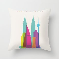 Shapes of Kuala Lumpur. Accurate to scale Throw Pillow