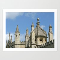 spires Art Prints featuring Spires of All Souls by Ann Horn