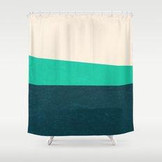 Stripe II Fresh Mint Shower Curtain