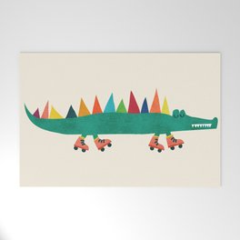 Crocodile on Roller Skates Welcome Mat
