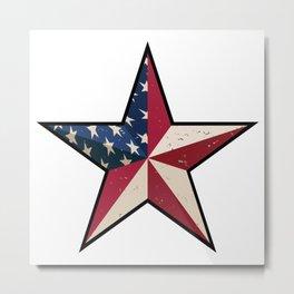 American Barn Star Metal Print