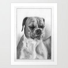 Chloe the Boxer Dog Art Print
