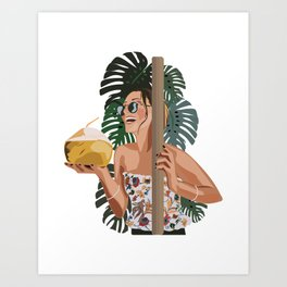 Coconuts for YOU Art Print