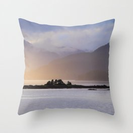 Juneau Alaska Inside Passage Pacific Coast Misty Mountains Throw Pillow