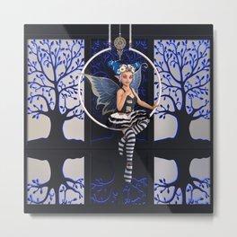 Electric Blue Faerie Metal Print