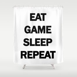Gamer wall decal, Eat Sleep Game, Gaming wall art, Gamer wall art, Gaming wall stickers, Gaming wall Shower Curtain