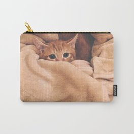 Hidden Cat- Photo of a cat hiding in a blanket Carry-All Pouch
