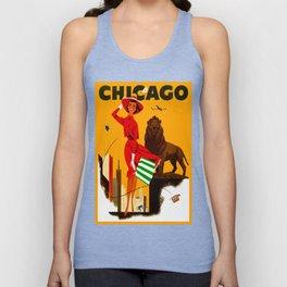 Vintage Chicago Illinois Travel Unisex Tank Top