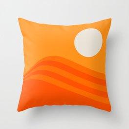 Swell - Orange Crush Throw Pillow