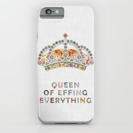 her daily motivation iPhone Case