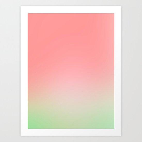 Watermelon Gradient Art Print