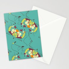 Flower hearts pattern Stationery Cards