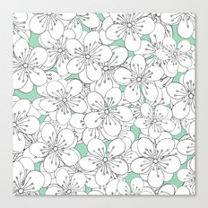 Cherry Blossom With Mint Blocks - In Memory of Mackenzie Canvas Print