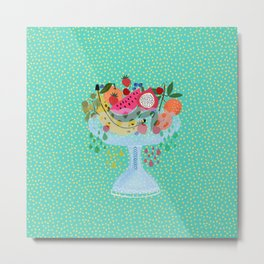 Fancy fruit bowl Metal Print
