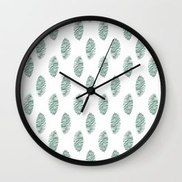 palm leaves in rows soft Wall Clock