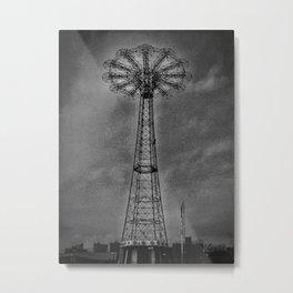 Coney Island Parachute Jump Metal Print