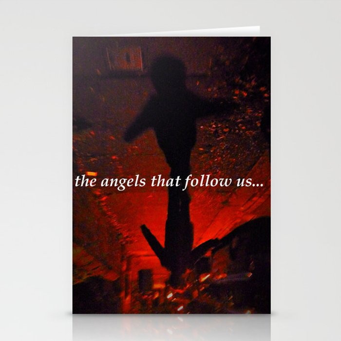 the angels that follow us... Stationery Cards