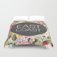 tupac Duvet Covers featuring East Coast by Text Guy