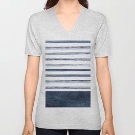 Stripes | Watercolor Pattern Unisex V-Neck