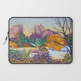 Horse Shed in Winter Laptop Sleeve