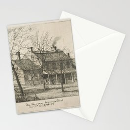 The Harsen Homestead, Corner of 10th Avenue and 70th Street (from Scenes of Old New York), by Henry Stationery Cards