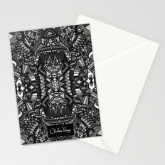 King of the City Black and White Stationery Cards
