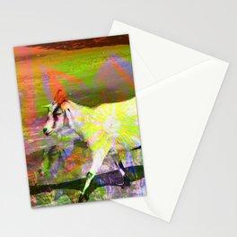 goat flower Stationery Cards