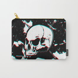 Drawing Skull Glitch Carry-All Pouch