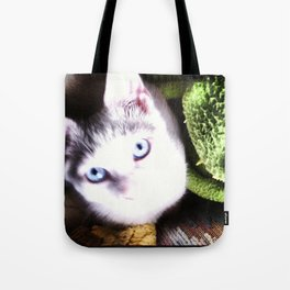 Little Blue Eyes Tote Bag