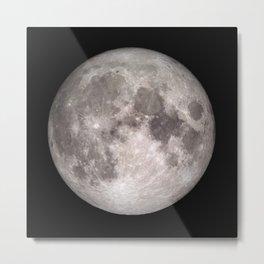 Surface of the Moon - Lunar Landscape Metal Print
