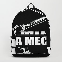 Mechanic Technician Hobby Hobbyist Motif Backpack
