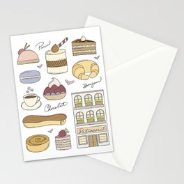 French Bakery Doodles Stationery Cards