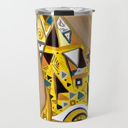 Ode to Klimt - Detail Portrait of Adele Travel Mug