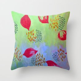 Fruits inspired acrylic  painting Throw Pillow