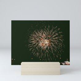 Fireworks at the Philadelphia Museum of Art Mini Art Print