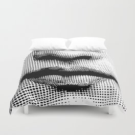 Lina Cavalieri - nose and mouth Duvet Cover