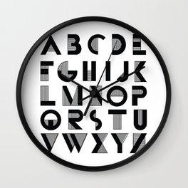 Deco Alphabet Wall Clock