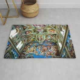Spectacular Sistine Chapel Frescoes, Rome, Italy, 1985 Rug