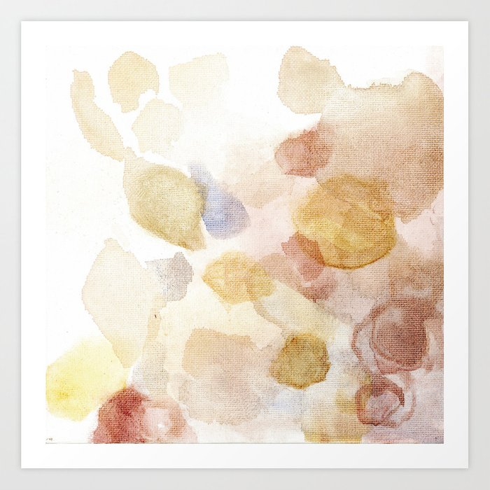 Bloom No. 5 Abstract watercolor floral Art Print