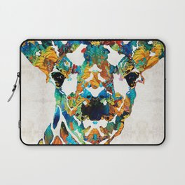 Colorful Giraffe Art - Curious - By Sharon Cummings Laptop Sleeve