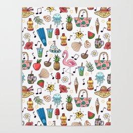 Summer pattern Poster