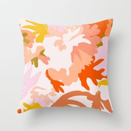ambient flora Throw Pillow
